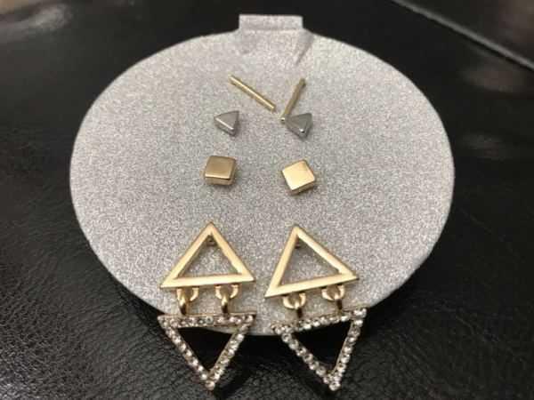 Tri-Tone Stud Earring 4-Pc. Gift Set