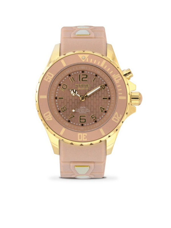 KYBOE! Power Silver Series Stainless Steel Analog Gold Sand Strap Watch