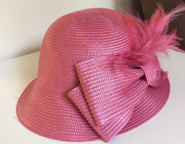 766288987654-SUMMER-AUGUST-HAT-Full-of-Feathers-Cloche-pink-18127-MSRP-68-282694801175