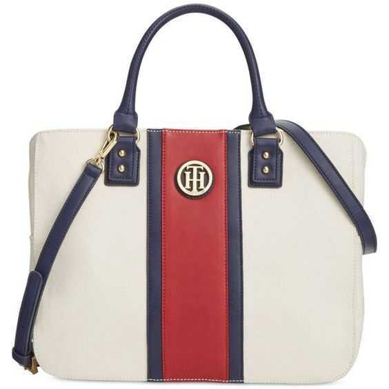 nwt  108 tommy hilfiger alexa canvas cv shopper